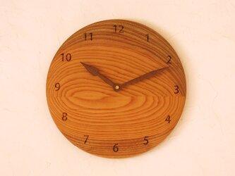 掛け時計 丸 けやき材⑮の画像