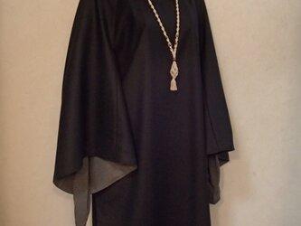 再販、受注生産、マーガレットとチュニックのセット9〜13号<黒×グレー>の画像