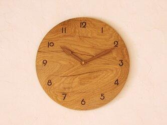 掛け時計 丸 楢材③の画像