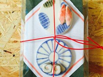 回転寿司 箸置き2個セット(折詰)の画像