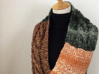 縄編みのスヌード E 2015の画像