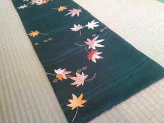 ヴィンテージ帯 秋模様タペストリー 紅葉の画像