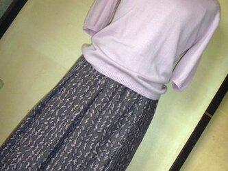着物リメイク★シルクのストール・スカート2点セットの画像