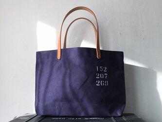 パラフィン帆布紺シンプルトートバッグ M IND_BNP_0269の画像