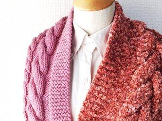 縄編みのスヌード D 2015の画像