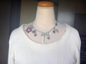 麻★英国ガーデンの手編みネックレスの画像