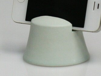 薄緑ハーフマット灰釉 スマートフォンスタンドの画像