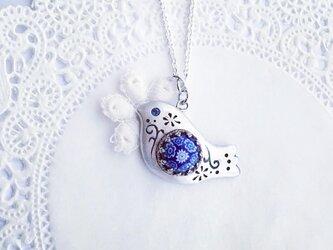 青い瞳の小鳥 ミルフィオリネックレス(再販)の画像