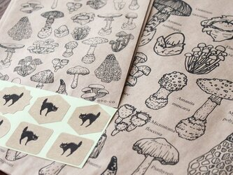 キノコ図鑑のラッピング袋の画像