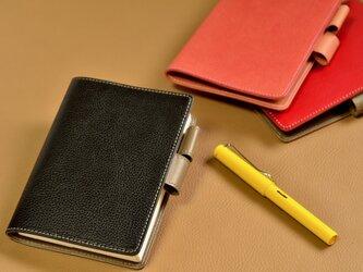 【お好きな色で製作】イタリアンレザー A6サイズ手帳カバーの画像