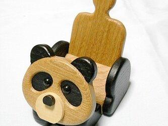 その名も 《コッペパンダ》の携帯電話スタンド(スマホも可です)の画像