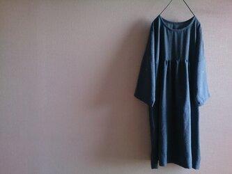 着物リメイク ギャザーワンピースの画像