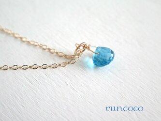 sold「11月誕生石」スイスブルートパーズ K10 2wayネックレス の画像