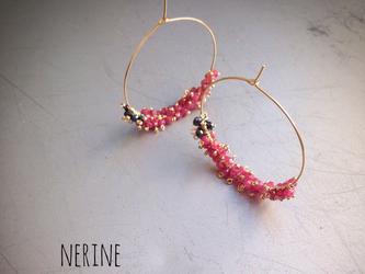 14kgf*Ruby-spinel/earringの画像