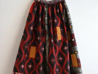 銘仙など 乙女色パッチワークギャザースカート Fサイズの画像