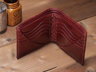 ☆送料無料☆BASICウォレット<RED> カードタイプ ☆ラッピング無料☆ 二つ折り財布の画像