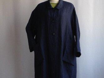 再販「f様オーダー」ゆったりなコートドレス・鉄紺の画像