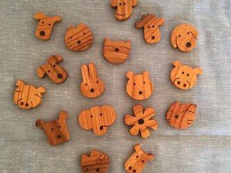 森のクマさんカフェの仲間たちブローチの画像