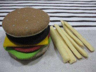 ハンバーガー&ポテトの画像