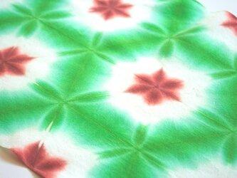 ふんわり白いお花もよう♪雪花絞りの手ぬぐいの画像