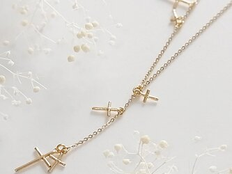 Star Cross Necklace (gold)の画像