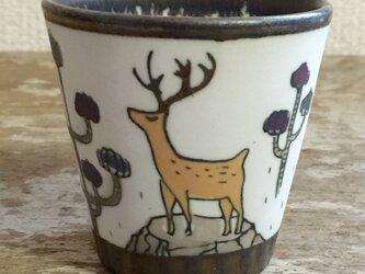 鹿のぐい呑ショットグラスの画像