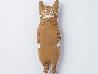 <受注制作>茶トラ猫ちゃん ぬいぐるみの画像
