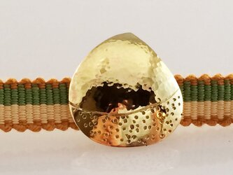 栗◆真鍮鍛金帯留 2の画像