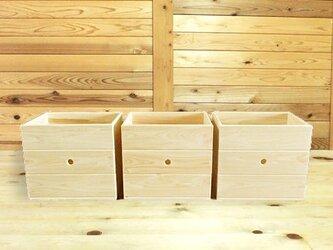 ひのきの収納ボックスの画像