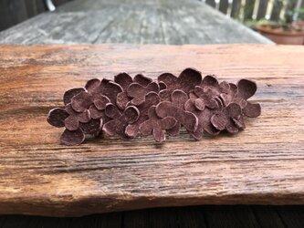 革花のバレッタ  金具7cm モカの画像