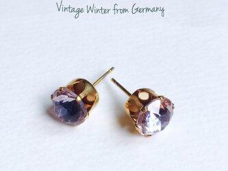 ドイツ製ヴィンテージガラスピアス winterの画像