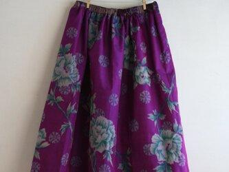 銘仙 パープルパッチワークギャザースカート Fサイズの画像
