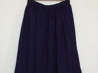 kimiko様セミオーダー品 ギャザースカート (ネイビー)の画像
