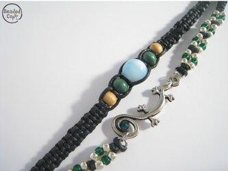 """【再販】Lrimar bracelet """"Dreaming lizard"""" green ver.の画像"""