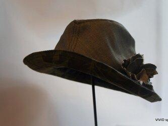 flower HAT(ブラックデニム)の画像