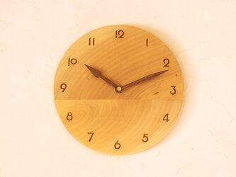 掛け時計 丸 イチョウ材①の画像