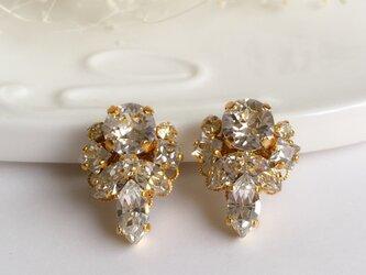 Crystal jewel pierce (earring)の画像