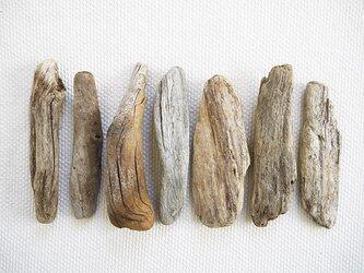 流木素材(セット) 021  [約L14.5~16.2cm]の画像