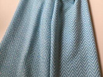 カシミヤストール ロング ブルーの画像