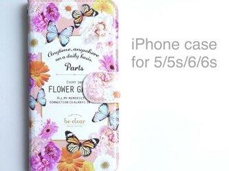 iPhone case (手帳型) for 5/5s/6/6s 【FLOWER GARDEN】の画像