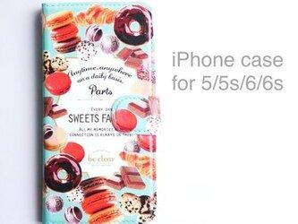 iPhone case (手帳型) for 5/5s/6/6s 【SWEETS FACTORY】の画像