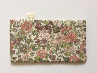ポケットサイズハンカチ・リバティ エミリー ブラウン+6重ガーゼの画像