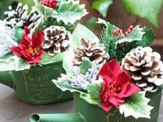 クリスマスアレンジメント★グリーンジョウロの画像