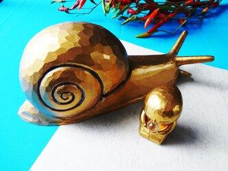 kokoroのオブジェ&かたつむり(特大)の画像