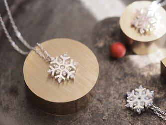 雪の結晶 ネックレス シルバー925の画像