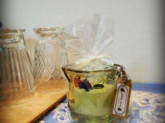 蜜蝋とソイのブレンドキャンドル フラワーの画像