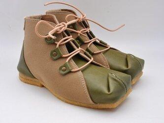 tote boots  栃木革x倉敷帆布の画像