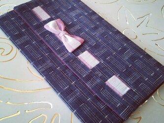 日本3大紬のふくさ(上田紬)リボンの画像