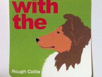 ラフ・コリー 横顔 ステッカー DOG IN CARの画像