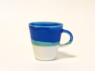 Mug cup S / Blue × transparentの画像
